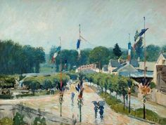 14 July at Marly, France by Alfred Sisley; 1875; Oil on canvas; Collection: The Higgins Art Gallery & Museum, Bedford
