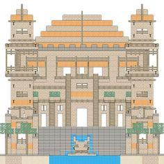 minecraft house blueprint - Google Search