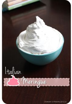 Basic Italian Meringue Basic Italian, Great Recipes, Healthy Recipes, Italian Meringue, Cupcakes, I Want To Eat, Tray Bakes, Icing, Sweet Tooth
