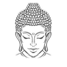 Illustration of Buddha head - elegant vector illustration. The symbol of Buddhism, spirituality and enlightenment. Tattoo, illustration, printing on fabric vector art, clipart and stock vectors. Buddha Tattoo Design, Buddha Tattoos, Buddha Kopf Tattoo, Buddha Kunst, Buddha Art, Buddha Head, Baby Buddha, Buddha Buddhism, S Tattoo