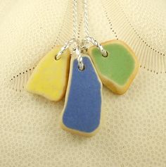 Sea Glass Jewelry Sea Pottery Necklace by seaglassgems4you on Etsy, $32.00