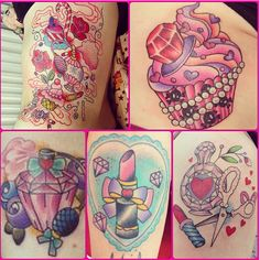 I'm in love with all these insainly gorgeous & girly tattoos <3