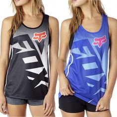 Fox Shiv Womens Sleeveless Work Out Muscle Tech Tank Tops