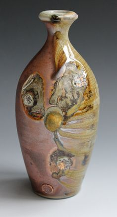 Wood-fire bottle from Todd Pletcher Pottery