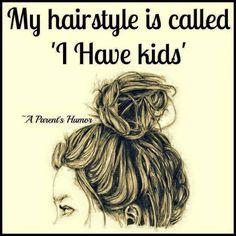 Kids! Messy hair happy heart!