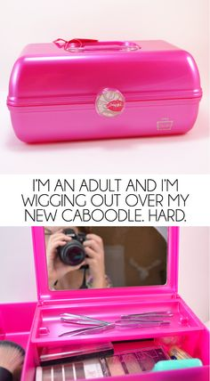 I'm  an adult and I'm wigging out over my new Caboodle. Hard. Teen me would be so jealous! #cuethecaboodles #Pmedia #ad