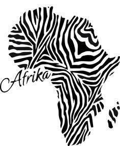 Stencil Schablone Afrika