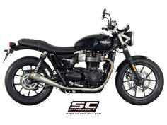 Twin Conics for the Triumph Street Twin. SC-Project Conics motorcycle exhaust is constructed of only the finest quality components. Custom Motorcycle Helmets, Custom Bobber, Motorcycle Style, Motorcycle Design, Street Scrambler, Scrambler Motorcycle, Triumph Bikes, Cool Motorcycles, Triumph Street Twin