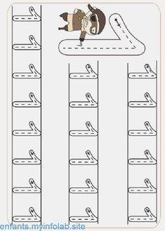 Pre-School Numbers Line Studies (New) - Preschool Children Akctivitiys Preschool Writing, Numbers Preschool, Kindergarten Math Worksheets, Preschool Learning Activities, Writing Worksheets, Worksheets For Kids, Kids Learning, Kindergarten Portfolio, Math For Kids