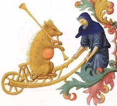 the motif of the pig and bagpipes was a popular motif in medieval times.