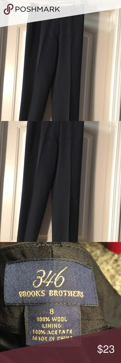 🌸Brooks Brother Size 8 Black Business Slacks🌸 These are a great pair of black slacks that you can wear to work & are very comfortable. These are a staple for every day work wear. Size 8. Excellent condition. If you have any questions please feel free to ask!!☺️ Brooks Brothers Pants Trousers