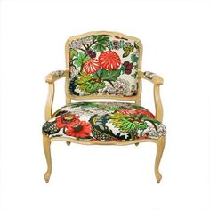 colorful fauteuil