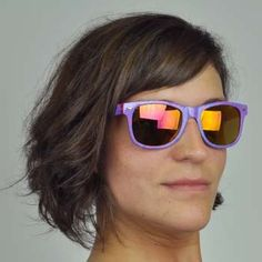 Flipside Revo Sunglasses, Moonwalk through time and space in the futuristic style of our Flipside Revo shades.  Features 100% UV protective lenses to protect your peepers while you rock out in funky festive style! $6