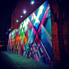 Maya Hayuk Mural: Houston Street NYC