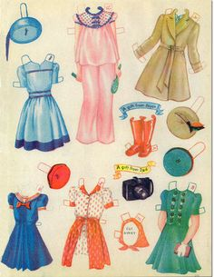 PAPER DOLL PARTY #2410 Saalfield Publishing 1944 <<>> 6 DOLLS Anne, Marjorie, Florence, Joyce, Beth and Helen {on the Front Cover} 11 of 12