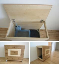 interior: How To Build A Litter Box Enclosure. 27 Useful DIY Solutions For Hiding The Litter Box Classy How To Build A Enclosure New how to build a litter box enclosure. how to build a cat litter box enclosure Diy Litter Box, Hidden Litter Boxes, Cat Room, Pet Furniture, Diy Stuffed Animals, Home Projects, Pets, Storage, Ikea Hacks