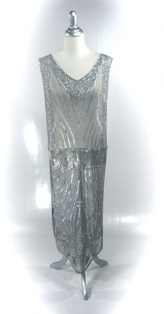 Platinum 1920's CONTINENTAL Beaded Flapper Gatsby by TheDecoHaus, $279.95