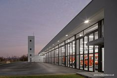 SCHNEIDER Industrial and Commercial Folding Doors steel with glass for a firefighter departement Industrial Door, Folding Doors, Schneider, Aluminium, Firefighter, Commercial, Europe, Glass, Inspiration