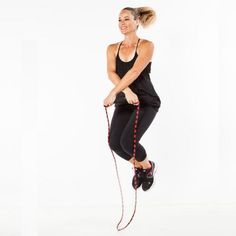 Shake up jump roping with a crossover jump! (Try crossing arms in front of body while jump rope is in air.)