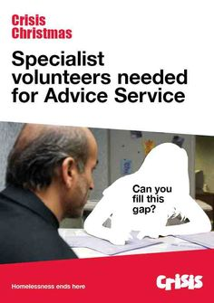 Annual Crisis at Christmas } Advice Service @ Residential & Day Centres