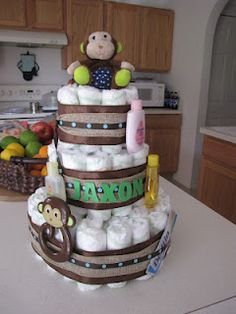 How to make a diaper cake - EASY!