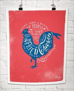 Fried Chicken Poster ha!