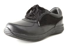The Alegria Cindi Black feature stain-proof coated leather upper and a slip resistant outsole, the toe box is has a slightly narrower, more tailored fit and tennis-shoe style laces allow for more custom adjustments. Add free wide insoles when purchasing this athletic-inspired shoe if additional width is a priority. Loaded with cork, memory foam and latex, the footbed creates a perfect fit every time by forming to the natural contours of the foot.