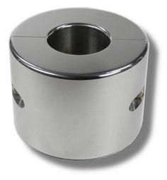 Hodenring Ballstretcher 30 mm hoch, Innen 24 mm, 3 kg schwer aus poliertem Edelstahl
