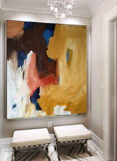 Mano pintado pintura Original grande arte abstracto pintura