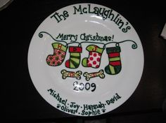 Another fantastic personalized Cookies for Santa plate from Etsy