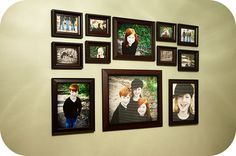Collage like wall gallery. I like the top half