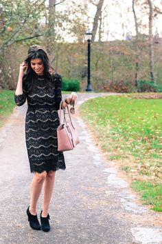 6ac37a596b2 Black Lace Midi Dress. Black Lace Midi DressBlogger StyleNew York FashionNew  ...