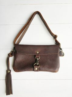 2a8549f1af Leather fanny pack leather hip bag brown leather belt bag Leather Fanny  Pack