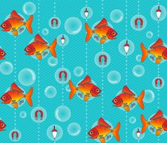 Wind Up Fishes fabric by juliesfabrics on Spoonflower - custom fabric