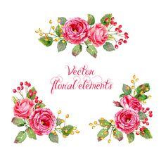 Beautiful pink flower vector art background 01 - Vector Background ...