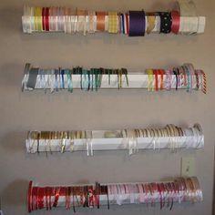 3.7.13   rain gutters into ribbon holders...