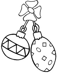 Christmas Ornament Dependent And Attractive Coloring Page
