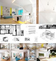 A penthouse in Bucharest for a young couple with good taste. Clean design with a touch of freshness.