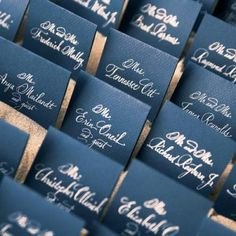 Table number idea.....45 Gorgeous Navy And Silver Wedding Ideas | HappyWedd.com