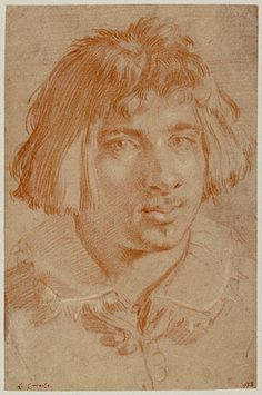 Portrait of a Young Man, Gian Lorenzo Bernini - Italian, 1630 / Red and white chalk
