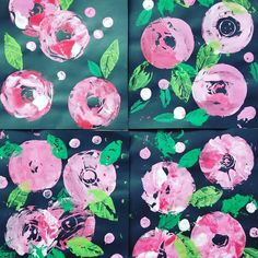 my first graders made these today and they are just too lovely to not share. idea from @artwithmrs.e