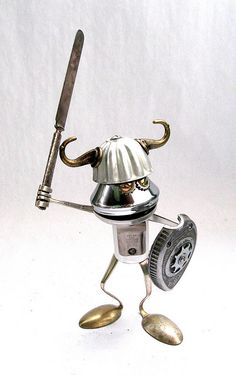 Forg - Found Object Robot Assemblage Sculpture by Brian Marshall