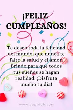 Spanish Birthday Wishes, Happy Birthday Posters, Happy Birthday Wishes Quotes, Happy Birthday Video, Happy Birthday Celebration, Happy Birthday Pictures, Birthday Wishes Cards, Happy Wishes, Happy Birthday Greetings