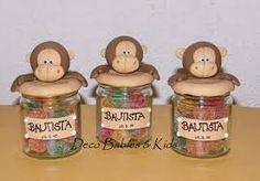 Resultado de imagen de frascos decorados con porcelana fria Baby L, Projects To Try, Treats, Jars, Pasta, Party Ideas, Google, Cold, Glass Boat