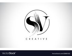 Sv brush stroke letter logo design black paint vector image on VectorStock Painting Logo, Cake Logo Design, Interior Design Pictures, Interior Logo, Artist Logo, Name Logo, Photo Logo, Logo Design Inspiration, Design Ideas