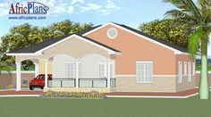108E - Africplans Front Verandah, Electrical Installation, Septic Tank, Roof Plan, Western Union, Bungalow, House Plans, Guy, Mansions