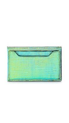 3.1 Phillip Lim 31 Card Case - Blue-Green by: 3.1 Phillip Lim