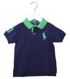 Ralph Lauren Navy/Green Collar Polo Shirt