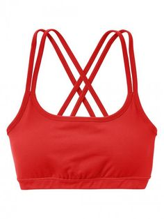 Athleta Women's Full Focus Bra Fire Red Bandeau | Underwear and Clothing