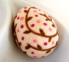 Easter Egg - Wool Felted - Home Decor - Needle Felt. $12.00, via Etsy.